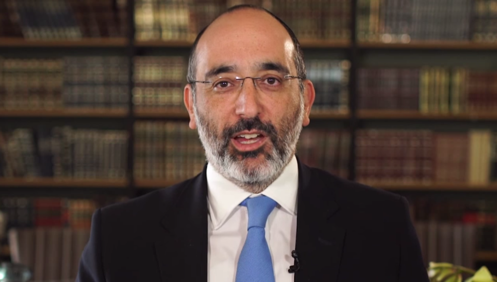 Click photo to download. Caption: Rabbi Warren Goldstein speaks in a video responding to South Africa's proposed dual citizenship ban. Credit: Connect with the Chief Rabbi via YouTube.