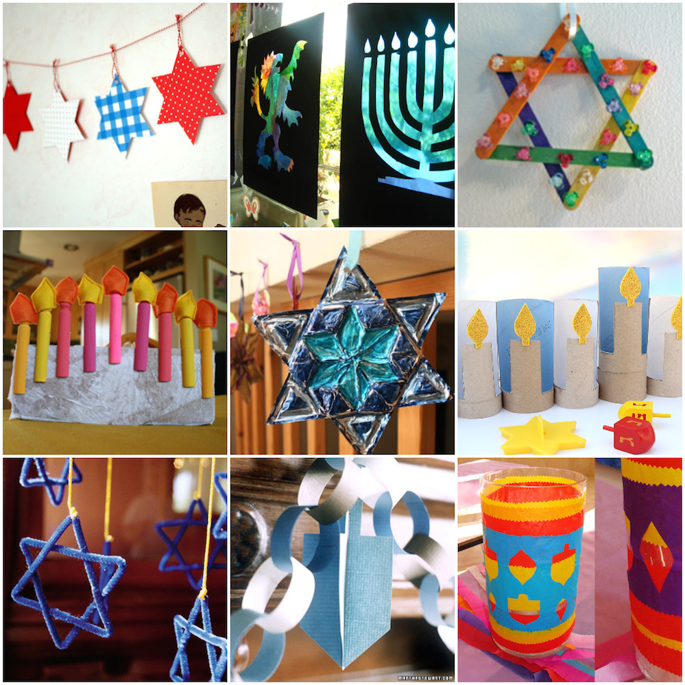 8 ways to celebrate hanukkah that don t involve gifts for Menorah arts and crafts
