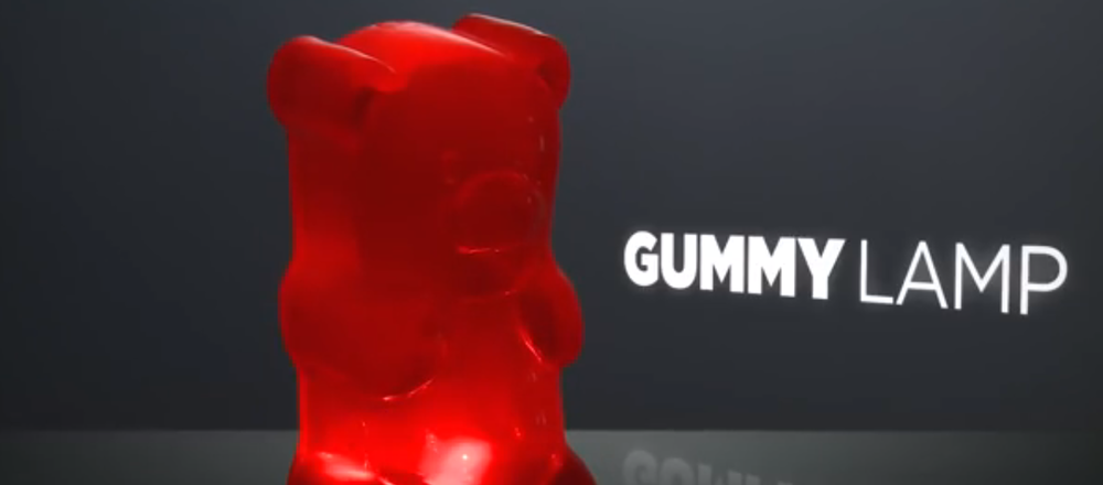 Click photo to download. Caption: The GummyLamp Gummy Bear Nightlight. Credit: YouTube.