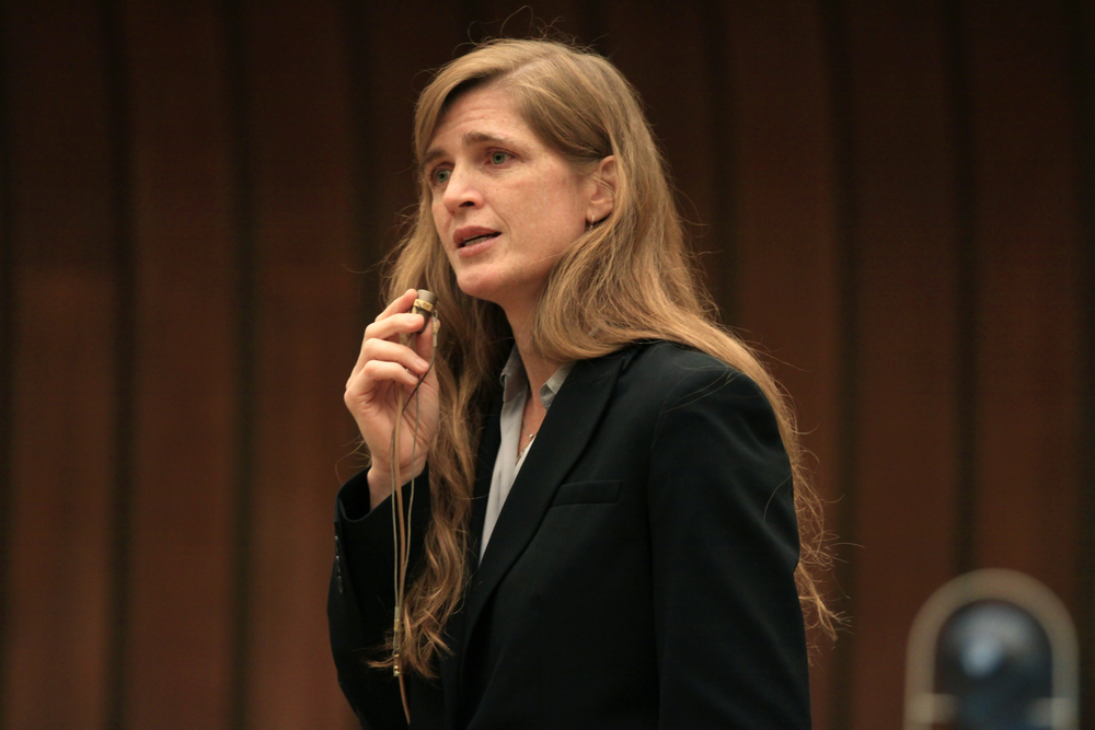 Click photo to download. Caption: U.S. Ambassador to the United Nations Samantha Power. Credit: United States Mission Geneva/Eric Bridiers.