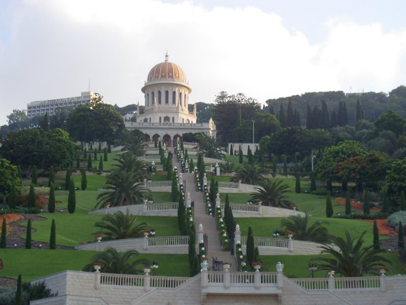 Haifa's Baha'i World Centre and its gardens. Credit: Wikimedia Commons.