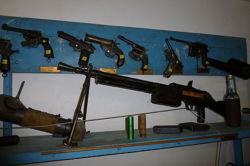 Guns in Israel. Credit: Wikimedia Commons.