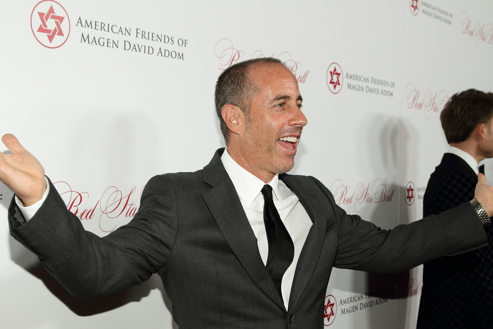 Click photo to download. Caption: Television and comedy icon Jerry Seinfeld at the Oct. 22 Los Angeles Red Star Ball of American Friends of Magen David Adom. Credit: Michelle Mivzari.