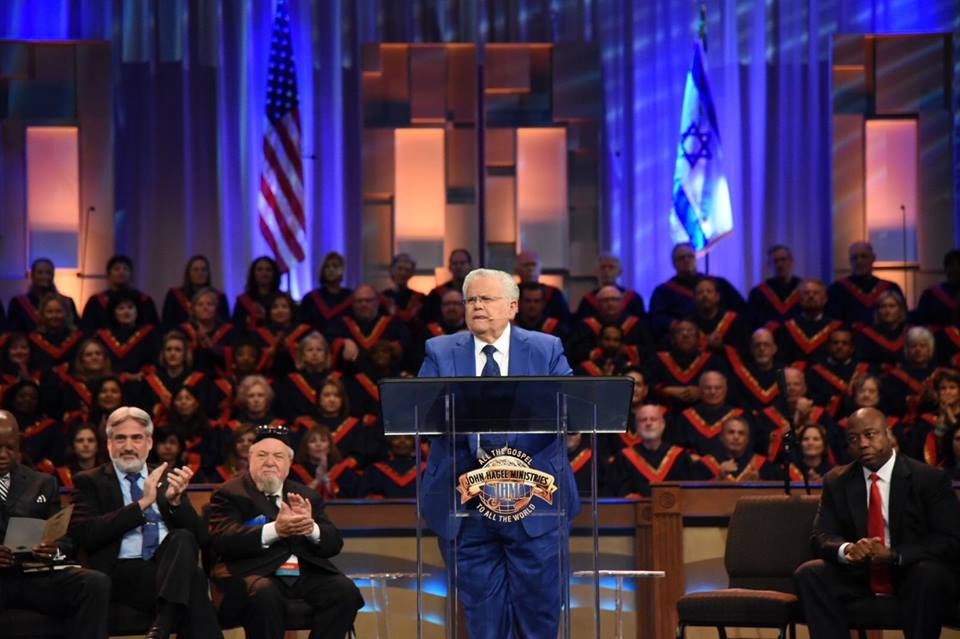 Pastor John Hagee speaks at the 34th annual Night to Honor Israel at Cornerstone Church in San Antonio. Credit: CUFI via Facebook.