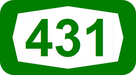The symbol for Israel's Route 431. Credit: Wikimedia Commons.
