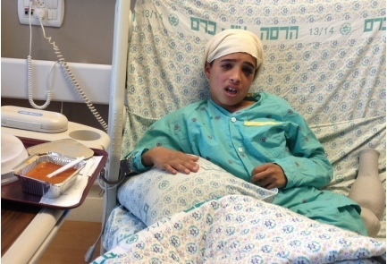 Thirteen-year-old Ahmed Manasra (pictured) was indicted Friday for attempting to murder two Israelis in an Oct. 12 stabbing attack. Credit: GPO.
