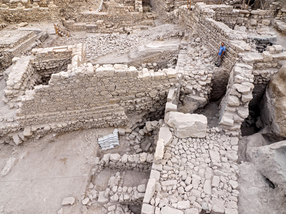 Part of the new archaeological find in Jerusalem's City of David. Credit: Israel Antiquities Authority.
