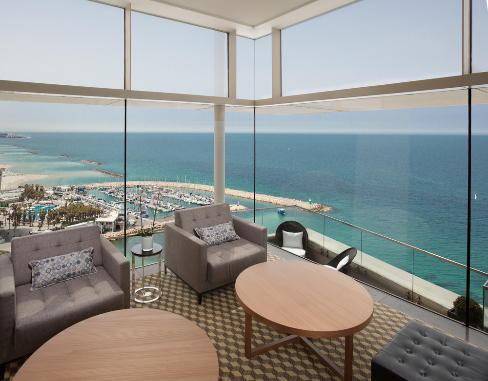 The Vista Club at the Tel Aviv Hilton. Credit: Courtesy Hilton.
