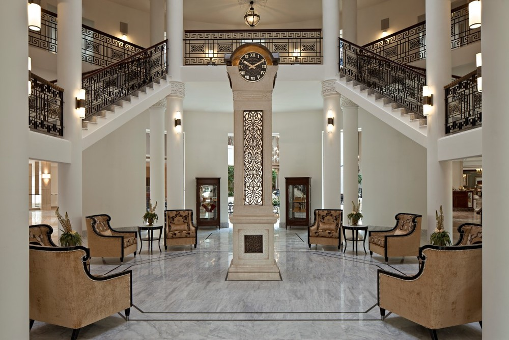 Click photo to download. Caption: The rotunda at the Waldorf Astoria Jerusalem. Credit: Courtesy Waldorf Astoria Jerusalem.