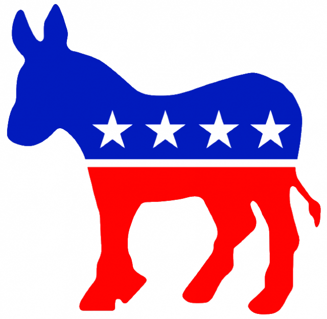 The Democratic party's donkey logo. Credit: Wikimedia Commons.