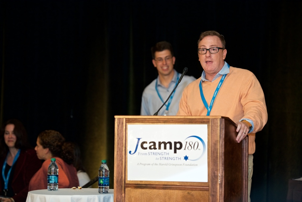 Camp Young Judaea of Texas accepts the Impact in Technology Award from JCamp180. Credit: JCamp180.