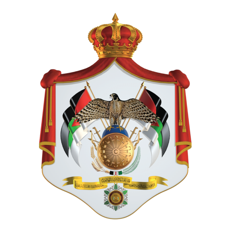 The coat of arms of Jordan. Credit: Wikimedia Commons.