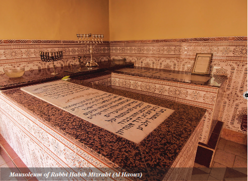 Click photo to download. Caption: The mausoleum of Rabbi Habib Mizrahi in Morocco. Credit: Provided photo.