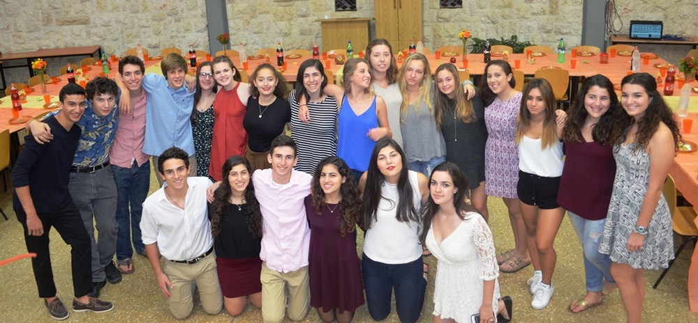 Click photo to download. Caption: Alexander Muss High School in Israel students celebrate an early Thanksgiving. Credit: Jewish National Fund.