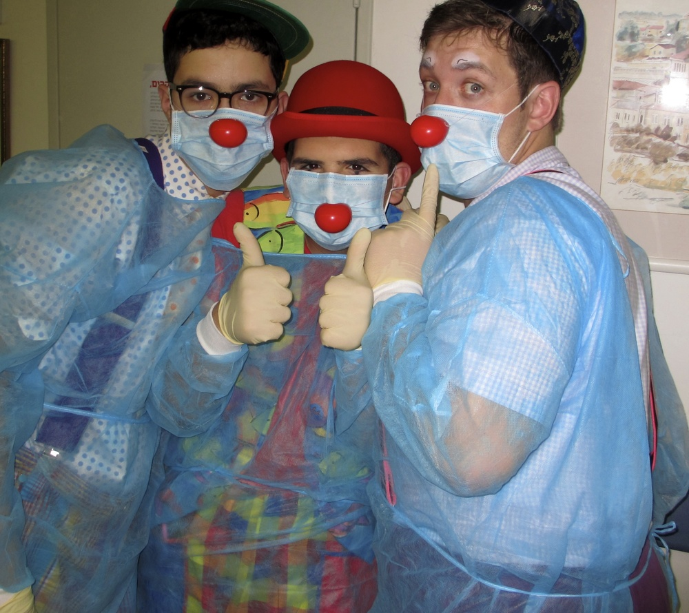 Click photo to download. Caption: Lev Leytzan medical clowns. Credit: Courtesy Lev Leytzan.