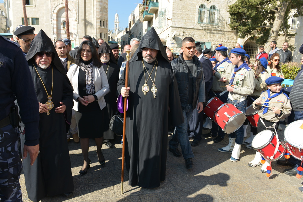 Click photo to download. Caption: Armenian Christmas in Bethlehem. Credit: Shan't Nalbandian.