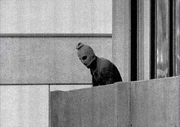 An image of one of the Palestinian terrorists during the Munich attacks. Credit: Wikimedia Commons.