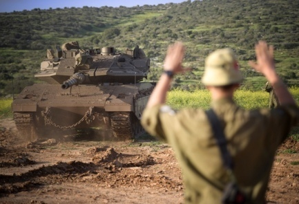 A tank takes part in a past IDF drill (not the one described in this story). Credit: IDF Spokesperson's Unit.