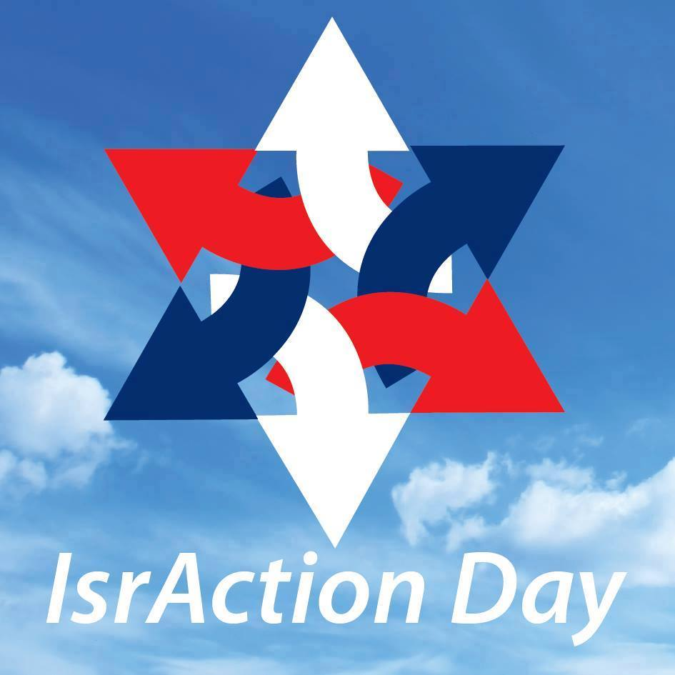 Click photo to download. Caption: A poster for IsrAction Day. Credit: Facebook.
