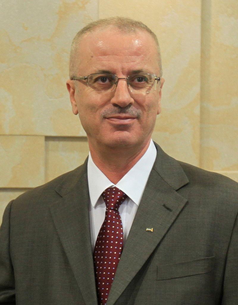 Palestinian Authority Prime Minister Rami Hamdallah. Credit: Wikimedia Commons.