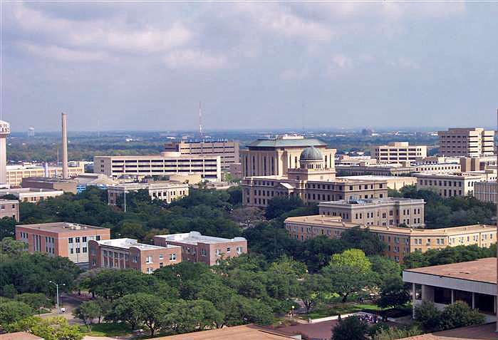 The Texas A&M campus. Credit: Wikimedia Commons.