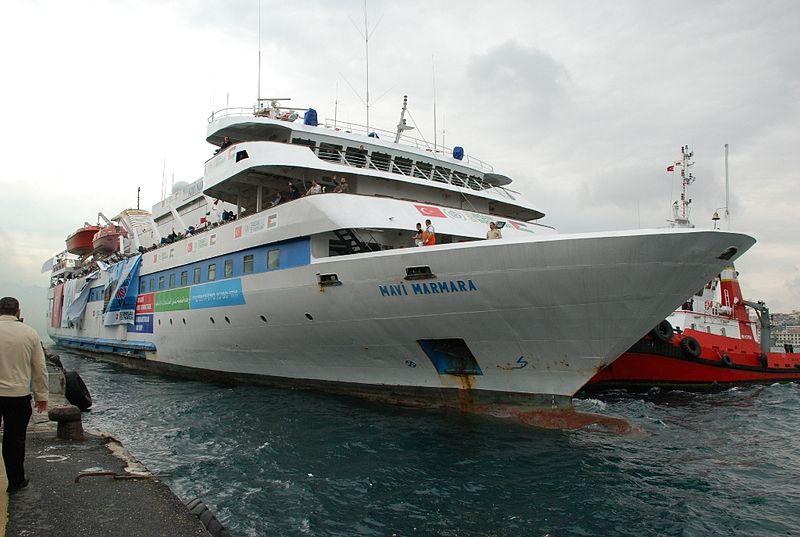 The Turkish Mavi Marmara vessel, which tried to break the Gaza blockade in 2010, spawning the deterioration of Israeli-Turkish relations. Credit: Wikimedia Commons.