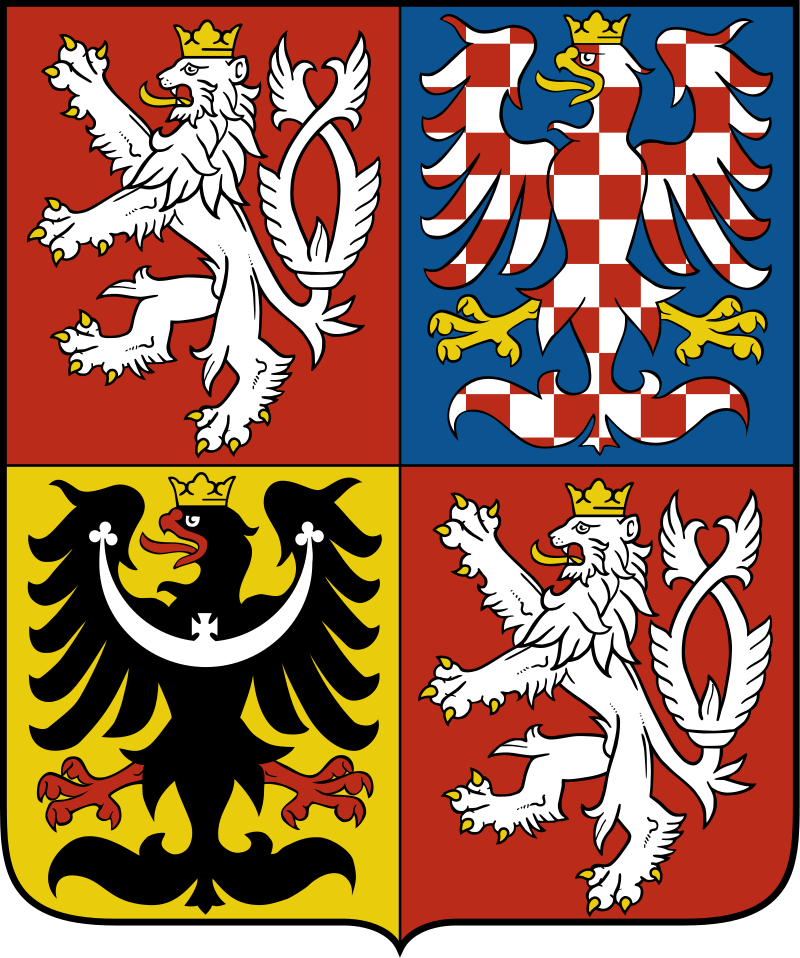 The Czech Republic's coat of arms. Credit: Wikimedia Commons.