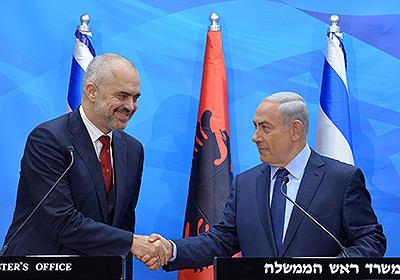 Israeli Prime Minister Benjamin Netanyahu and Albanian Prime Minister Edi Rama. Credit: Kobi Gideon GPO.