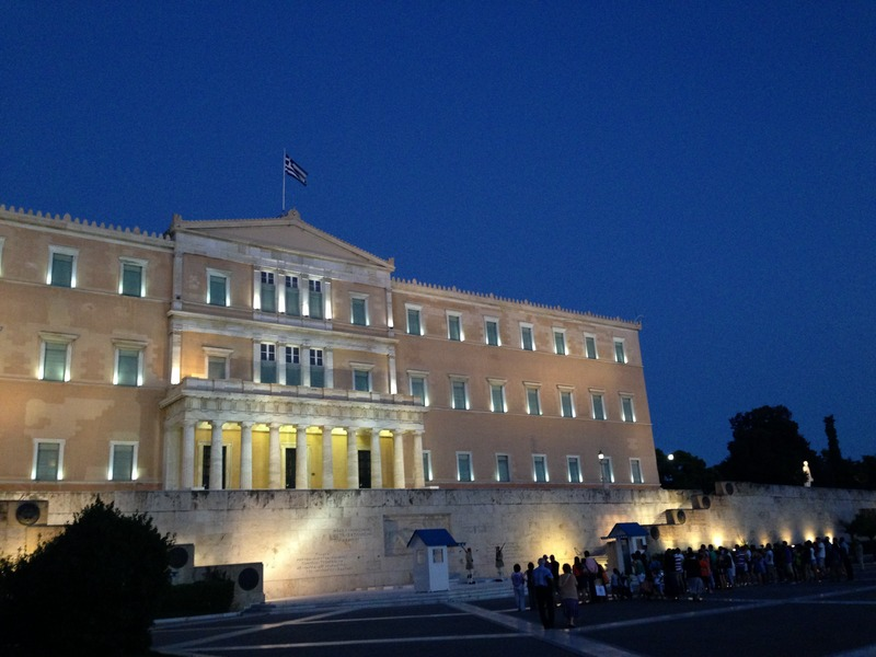 The Greek parliament. Credit: Wikimedia Commons.