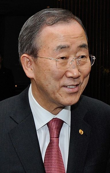 United Nations Secretary-General Ban Ki-moon. Credit: Wikimedia Commons.
