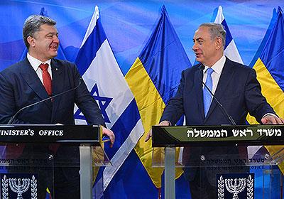 Ukrainian President Petro Poroshenko and Israeli Prime Minister Benjamin Netanyahu. Credit: Kobi Gideon, GPO.