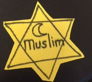 The Holocaust-era Jewish Star of David used by San Diego students to protest Islamophobia. Credit: StandWithUs.