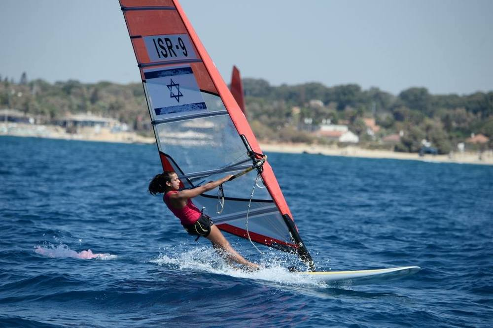 An Israeli windsurfer. Credit: Facebook.