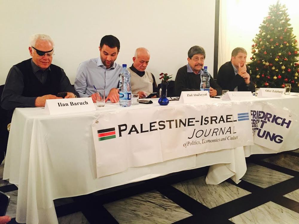 Speakers featured at the the Palestine-Israel Journal event.