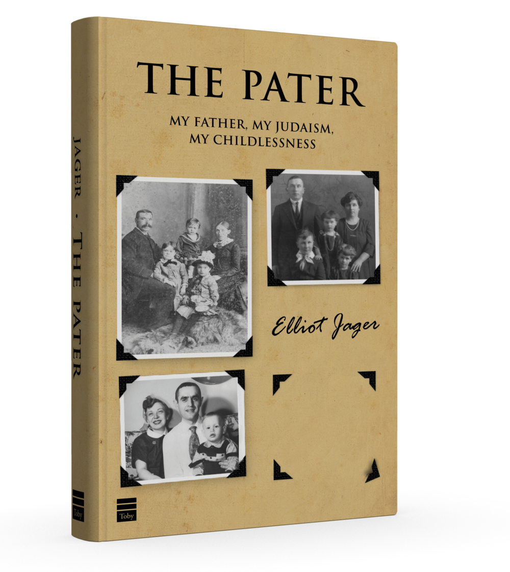 "Click photo to download. Caption: The cover of ""The Pater,"" by Elliot Jager. Credit: Toby Press."