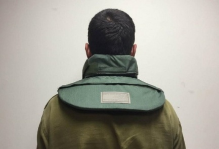The IDF's new neck protector for soldiers. Credit: IDF Spokesperson's Unit.