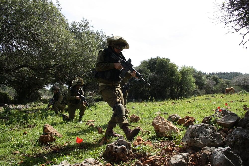 IDF soldiers practice guerrilla warfare. Credit: IDF.