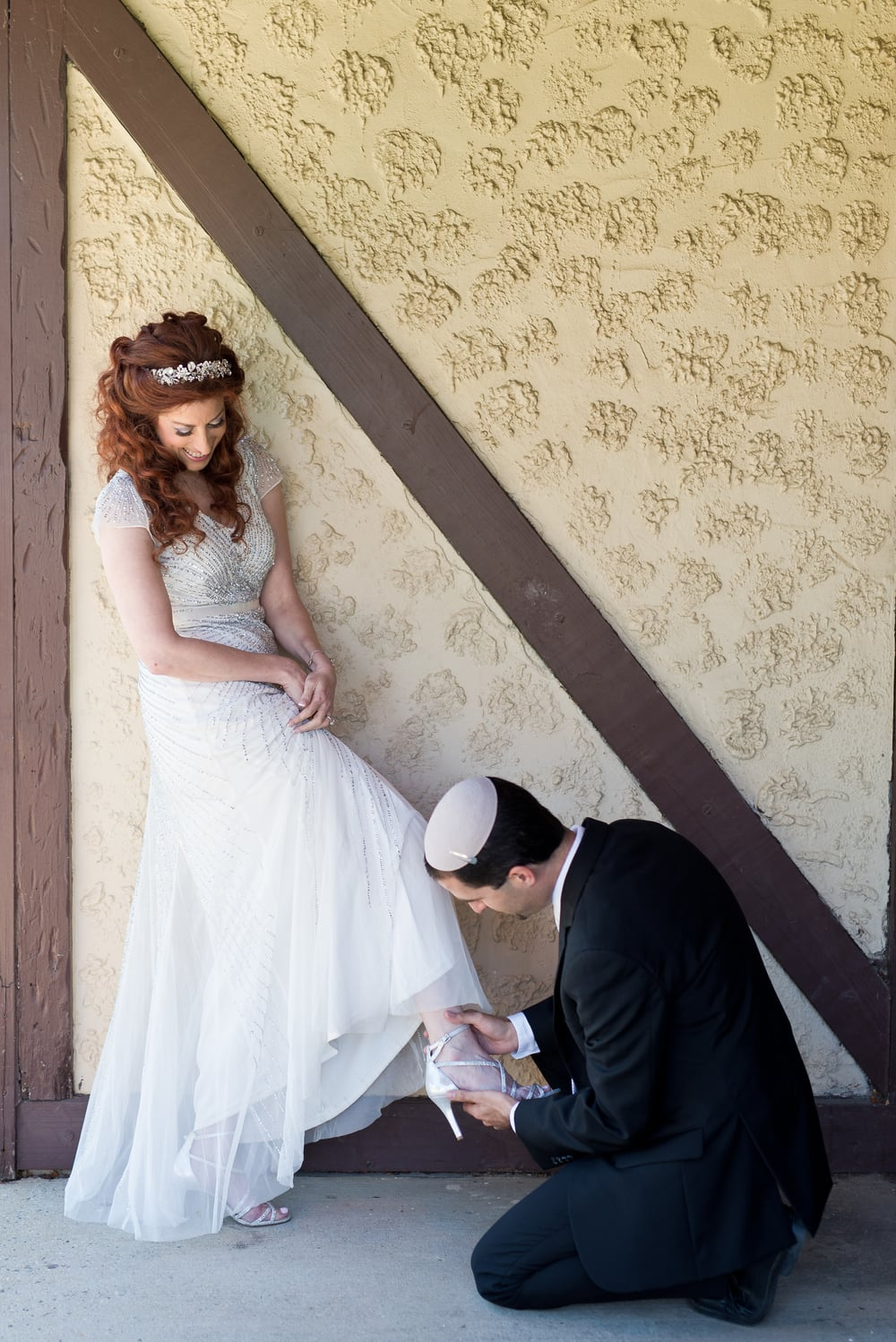 Click photo to download. Caption: Second-time bride Shari Klein with her husband, Elie. Credit: Courtesy Shari Klein.