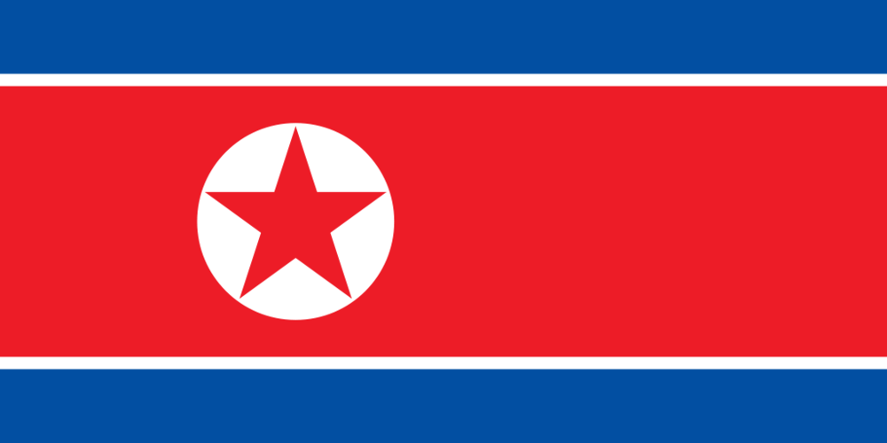 The flag of North Korea. Credit: Wikimedia Commons.