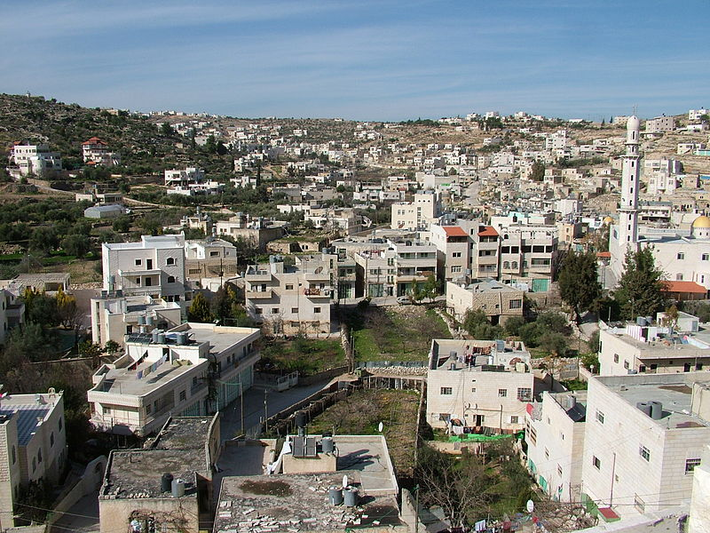 Beit Anun, where a Palestinian stabbing attack was foiled on Thursday. Credit: Zaher Abdul Samad Moamar via Wikimedia Commons.