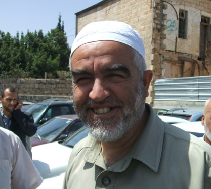 Sheikh Raed Salah, head of the outlawed Northern Branch of the Islamic Movement in Israel. Credit: Wikimedia Commons.
