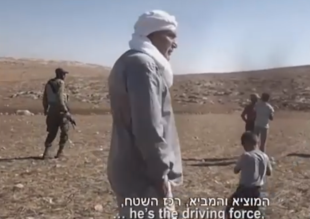 Click photo to download. Caption: Footage of controversial pro-Palestinian activist Ezra Nawi, of the Israeli NGO Ta'ayush, that was aired on Israel's Channel 2. Credit: YouTube.
