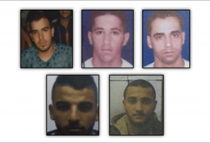 The five suspects in a Hezbollah-linked terror cell busted by Israel. Credit: Shin Bet.