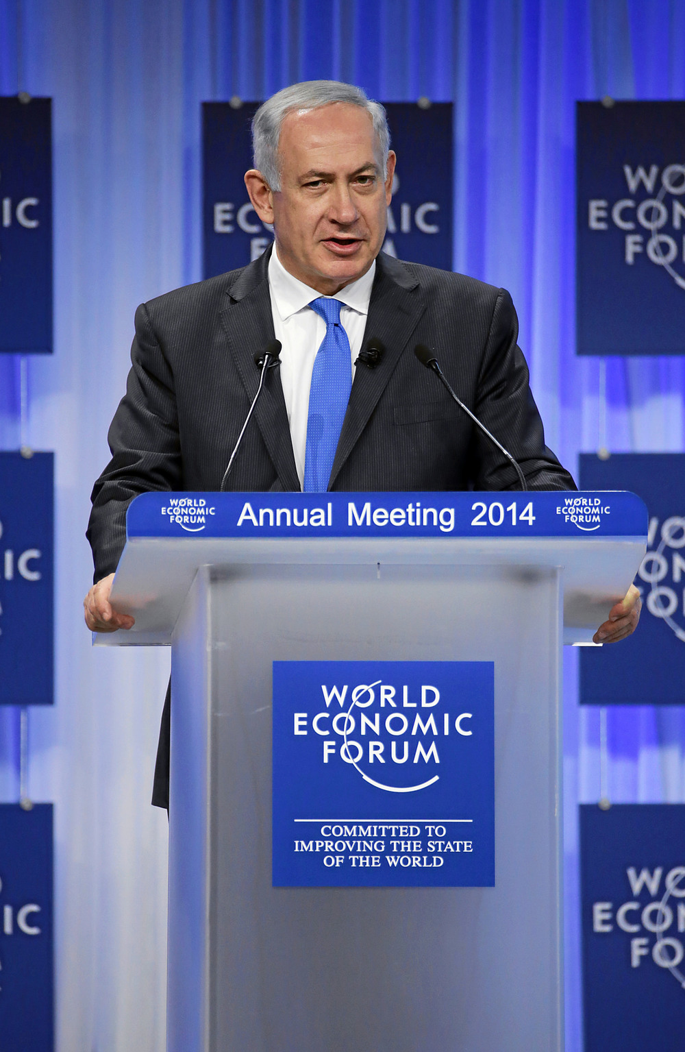Israeli Prime Minister Benjamin Netanyahu at the 2014 World Economic Forum in Davos, Switzerland. Credit: World Economic Forum/Rimy Steinegger via Flickr.com.