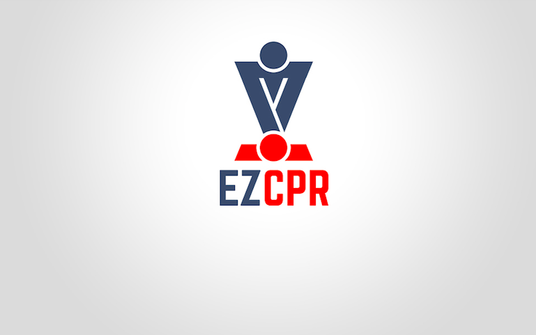 The logo for the new Israeli app, EZ CPR. Credit: EZ CPR.