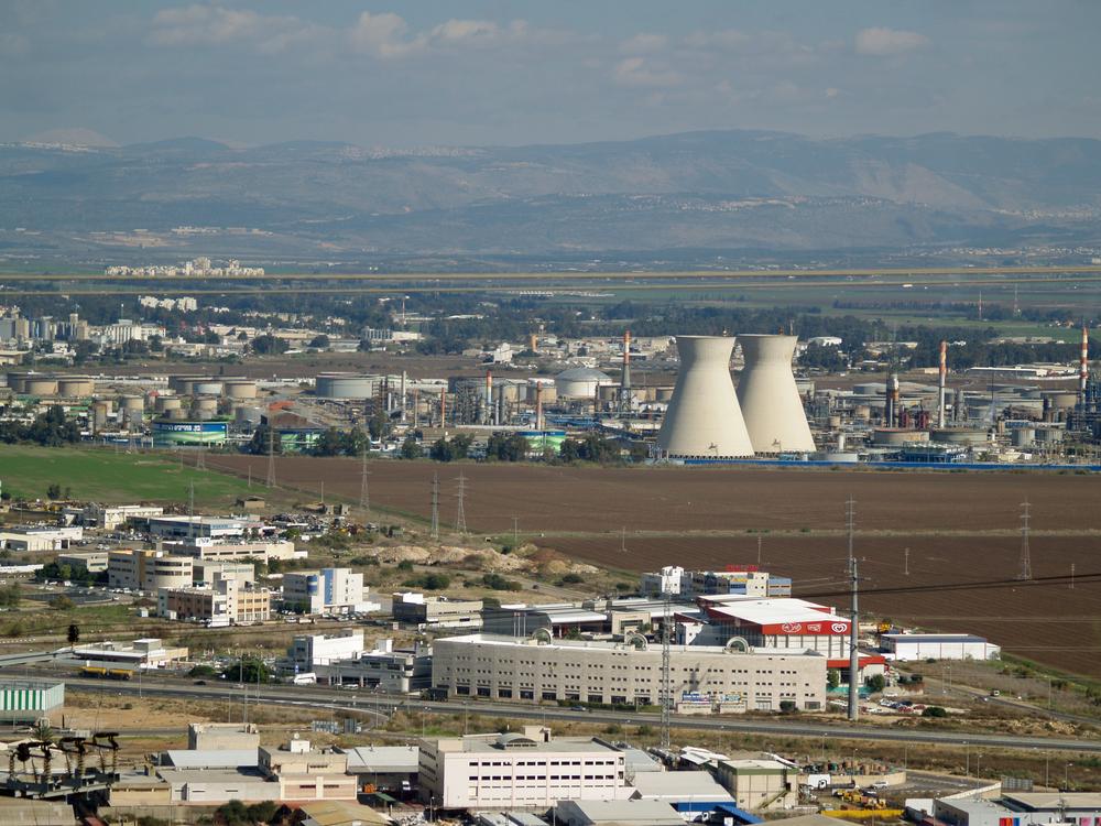 Haifa's oil refineries. Credit:David Shinbone via Wikimedia Commons.