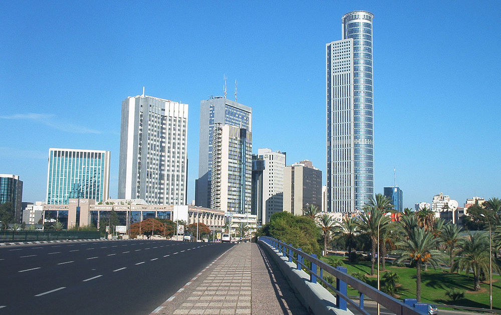 The diamond exchange district in Ramat Gan, Israel. Credit: Wikimedia Commons.