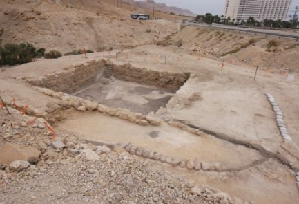The ancient canal system unearthed near the Dead Sea. Credit: Tzvika Tzuk/Israel Nature and Parks Authority.