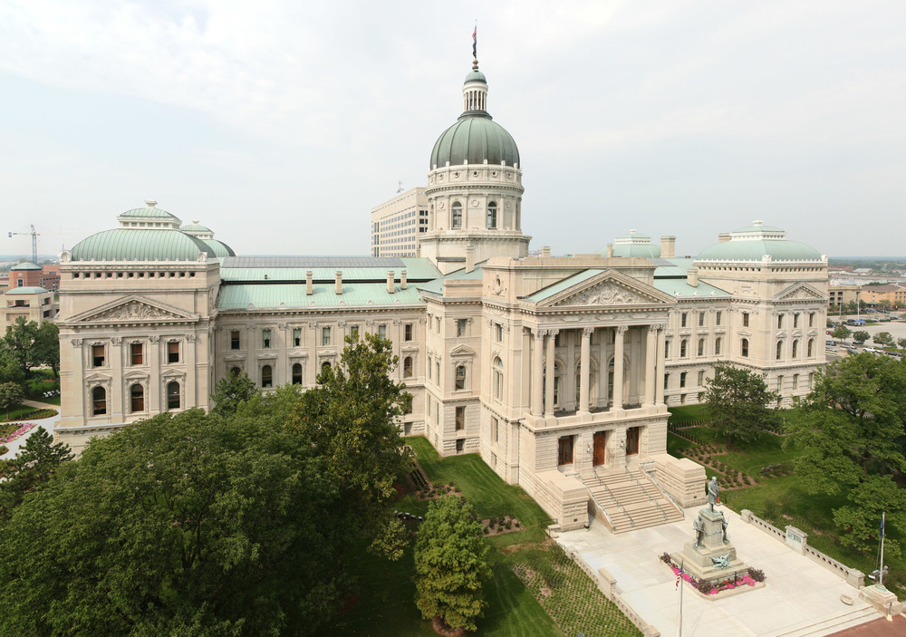Click photo to download. Caption: The state capitol building of Indiana, whose House of Representatives was the latest U.S. state legislature to pass legislation combating the Boycott, Divestment and Sanctions (BDS) movement against Israel. Credit: Massimo Catarinella via Wikimedia Commons.