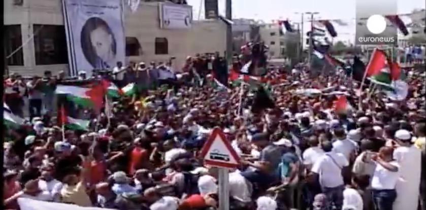 The funeral of 16-year-old Muhammad Abu Khdeir. Credit: YouTube Screenshot.